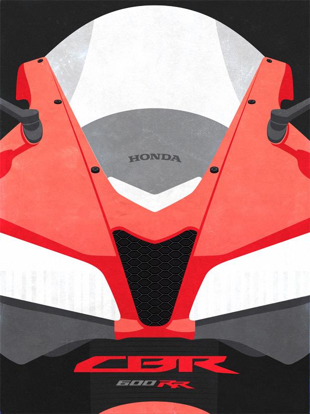 Honda CBR 600 RR Poster